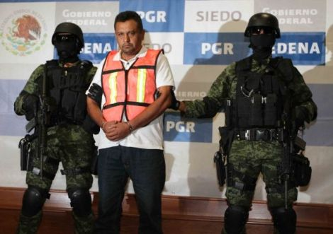 Alfredo Alemán Narváez, the alleged leader of the Zetas cartel branch in San Luís Potosí, was captured by the military on November 15. Source: Noticieras Televisa