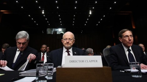 Director of National Intelligence James Clapper (center) appeared before the Senate Select Committee on Intelligence to discuss the Annual Worldwide Threat Assessment. (Photo Credit: ABC News, Win McNamee, Getty Images