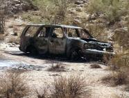 The discovery of the Butwin's burning vehicle in Arizona has reopened the debate on the threat of spill-over violence in the United States. Photo: Pinal County Sheriff's Office