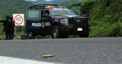 Ambush in Michoacán. Photo: Azteca Noticias.