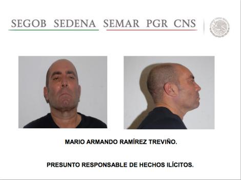 """Mario Armando Ramírez Treviño """"X-20"""" or """"El Pelón."""" Image: SEGOB."""