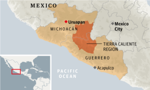 The Tierra Caliente region, seen here, spans parts of Michoacán and the neighboring state of Guerrero. Photo: The Guardian.