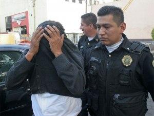 Jesús Alejandro Leal Flores following his arrest on April 2. Photo: EFE, Excélsior.